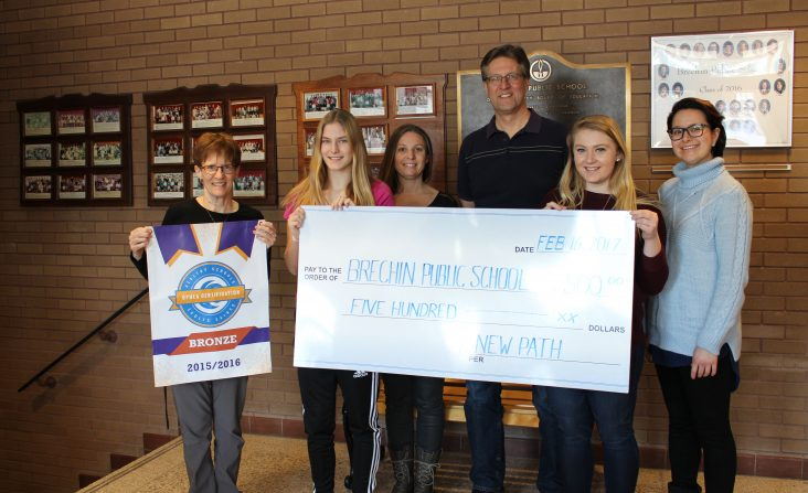 Brechin Public School Donation received a donation