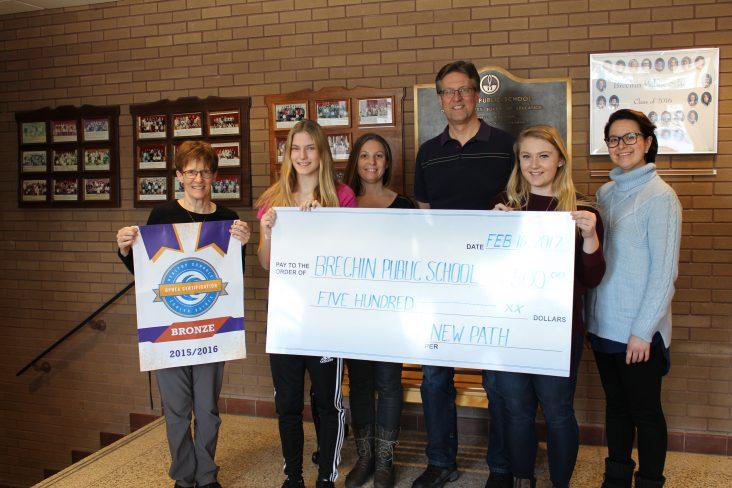 Brechin Public School Donation received a donation