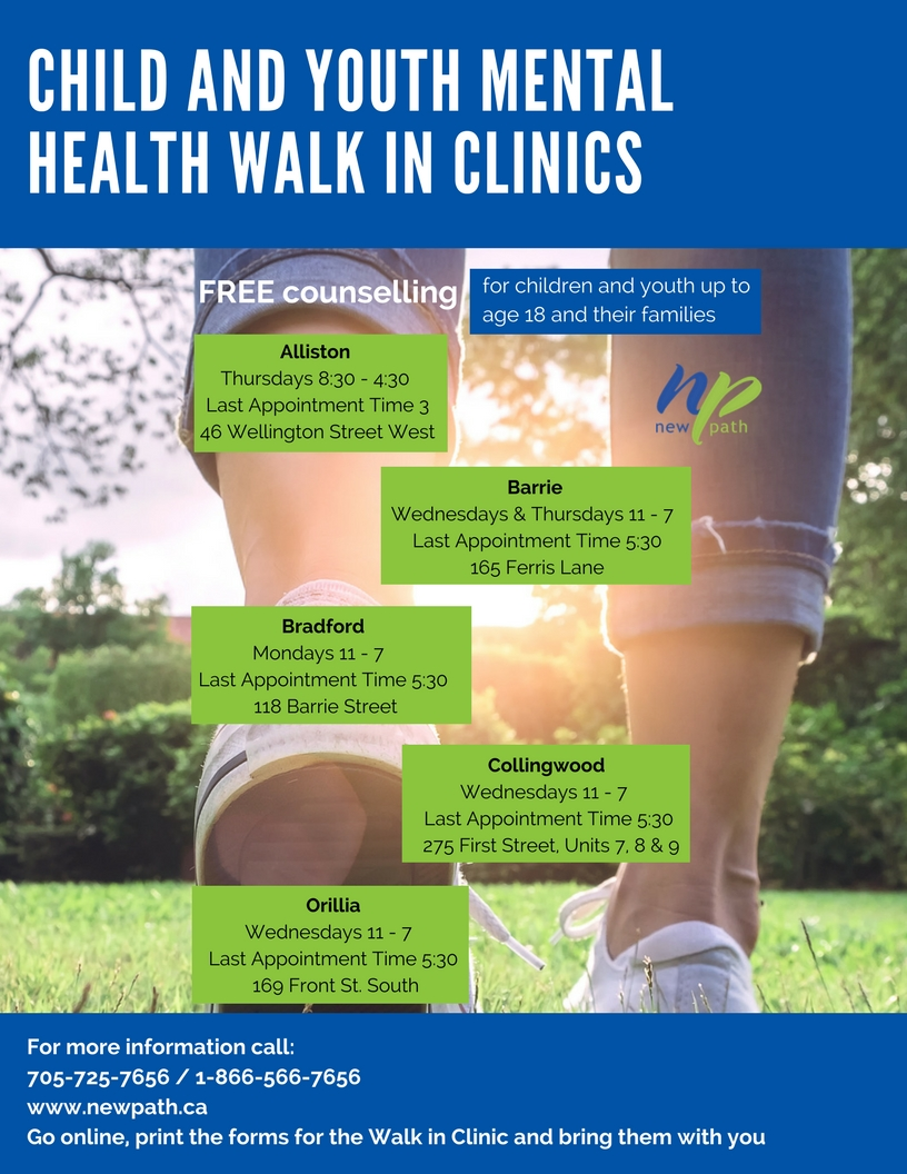 Mental-Health walk-in clinics