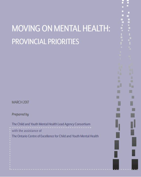 Cover of Moving on Mental Health: Provincial Priorities Report.