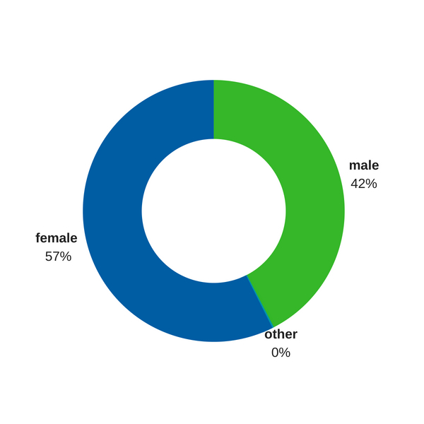 Diagram showing clients by gender. jpeg