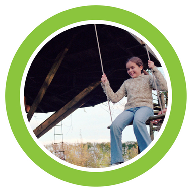 Picture of girl on swing