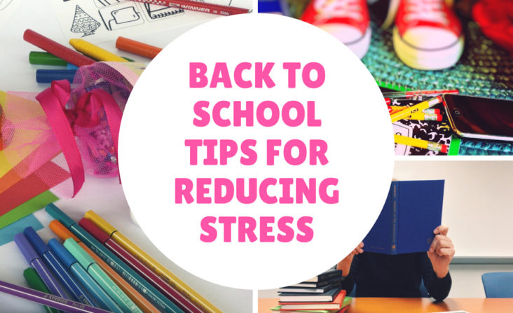 Tips for Reducing Stress Back to School Image